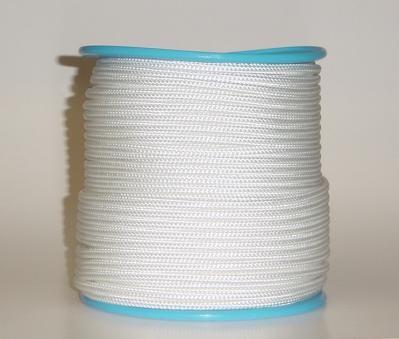 Polyester-Seil Normalgeflecht 6 mm weiss