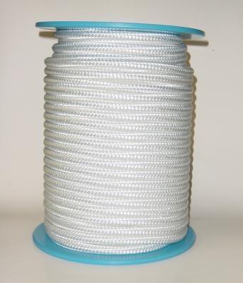 Polyester-Seil Normalgeflecht 8 mm weiss