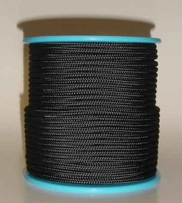 Seil Polyester Normalgeflecht 6 mm schwarz