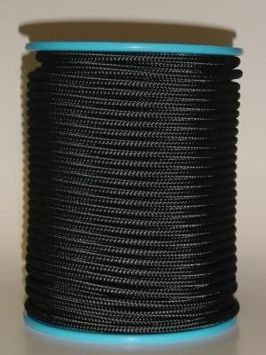 Polyester-Seil Normalgeflecht 8 mm schwarz